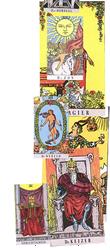 achtergrond van de tarotkaarten