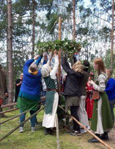 midzomer viering in zweden